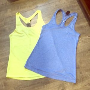Yoga/exercise tops in vibrant colors